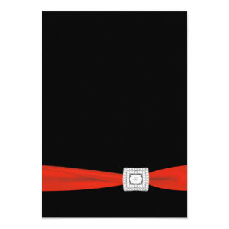 Red Black RSVP Card