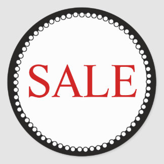 Red Black Sale Sticker for Business
