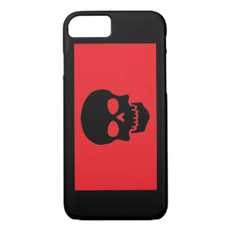Red/Black Skull iPhone 7 Case