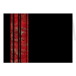 Red & Black Stripe Blank Note Greeting Card
