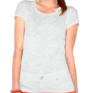 Red-Black Striped Snake Ladies Burnout T Shirts