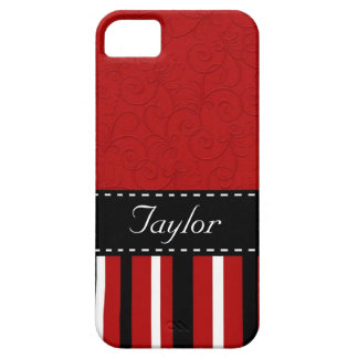 Red & Black Stripes Barely There iPhone 5 Case