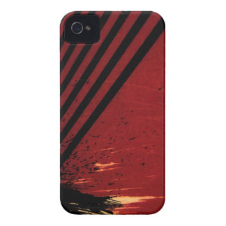 red black stripes iPhone 4 case