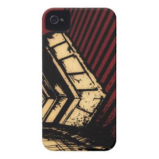 red black stripes iPhone 4 Case-Mate case