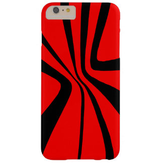 Red Black Swirls CricketDiane Pattern Colorblock Barely There iPhone 6 Plus Case