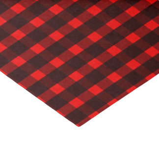 Red Black Tartan Plaid Pattern Tissue Paper