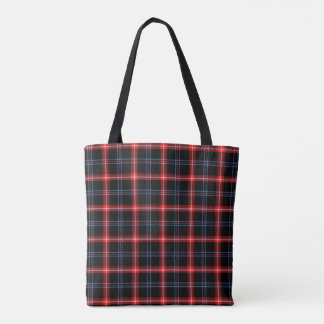 Red Black Tartan Plaid Shoulder Bag