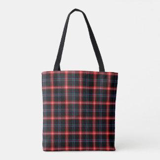 Red Black Tartan Plaid Shoulder Bag Tote Bag