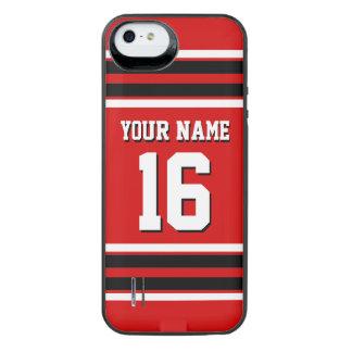 Red Black Team Jersey Custom Number Name