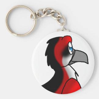 Red/Black/White Bird Hybrid Keychain