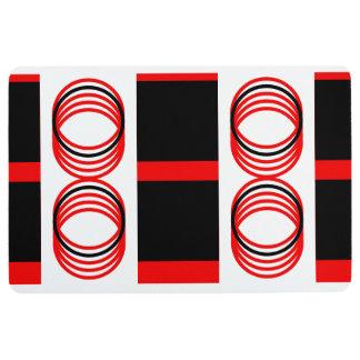 Red Black White Circle & Squares 4Derek Floor Mat