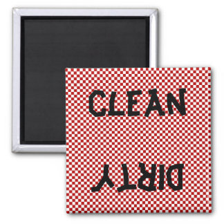 Red Black White Dishwasher Magnet