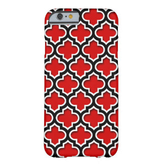 Red Black White Moroccan Quatrefoil Pattern #5DS Barely There iPhone 6 Case