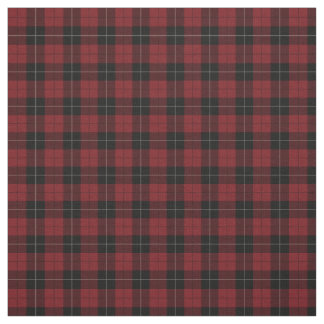 Red Black White Plaid Fabric