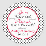 Red Black White Polka Dot Candy Buffet Stickers