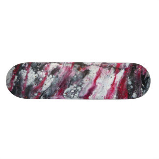 Red, Black & White Skateboard