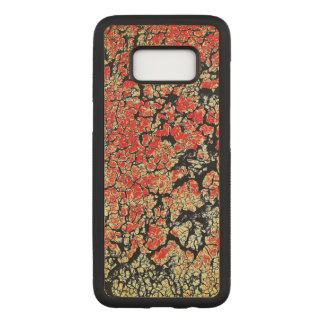 Red Black White Yellow Earth Carved Samsung Galaxy S8 Case