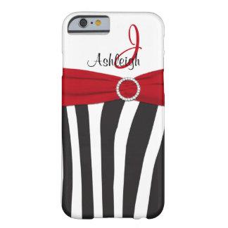 Red, Black, White Zebra Striped iPhone 6 case