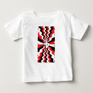 Red, Black, & White Zigzag Burst Printed Baby T-Shirt