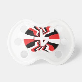 Red, Black, & White Zigzag Burst Printed Dummy
