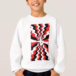 Red, Black, & White Zigzag Burst Printed Sweatshirt