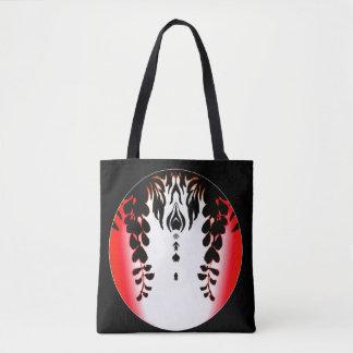 Red Black Wisteria Silhouette Bag