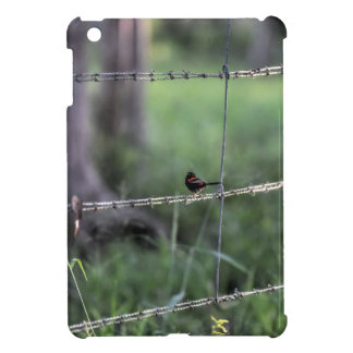 RED & BLACK WREN AUSTRALIA ART EFFECTS COVER FOR THE iPad MINI
