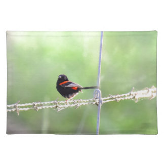RED & BLACK WREN QUEENSLAND AUSTRALIA PLACEMAT