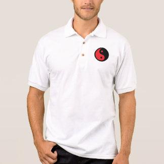 Red & Black Yin Yang Polo Shirt