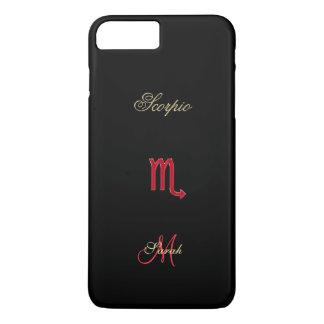 Red Black Zodiac Sign Scorpio iPhone 7 Plus Case