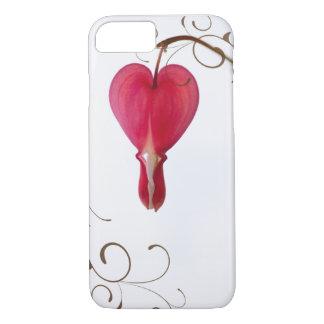 Red Bleeding Heart Flower iPhone 8/7 Case