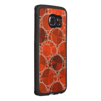 Red Bling Wood Phone Case