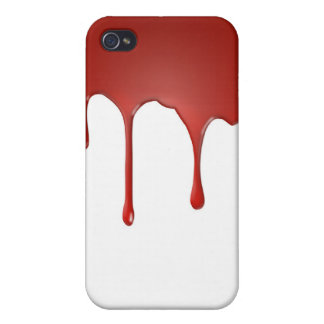 Red Blood Paint Dripping Iphone 4 Case
