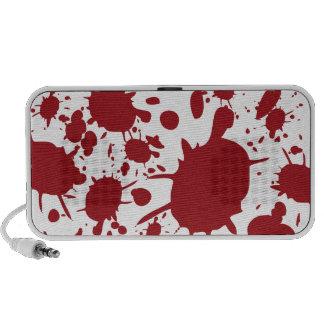 Red Blood Splatter Design Speakers