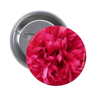 Red Bloom Pinback Button