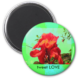 Red Bloom for Love Magnet
