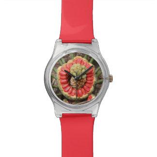 Red bloom wristwatch