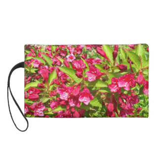 red blooms wristlet purses