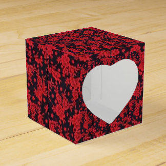 Red Blooms Favor Box (Classic) Favour Box