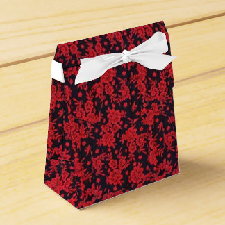 Red Blooms Favor Box (Tent) Favour Box