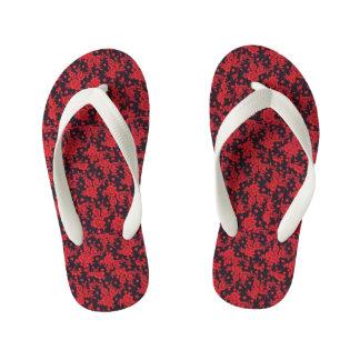 Red Blooms Flip Flops Thongs