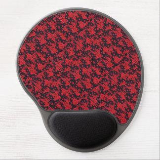Red Blooms Gel Mousepad