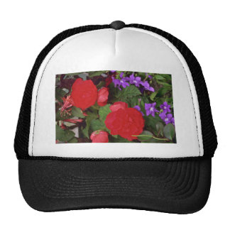 Red Blooms Hats