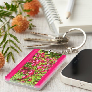 red blooms keychains