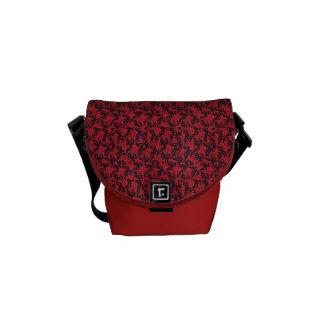Red Blooms Mini Messenger Bag