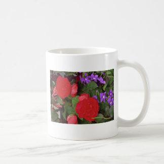 Red Blooms Coffee Mugs