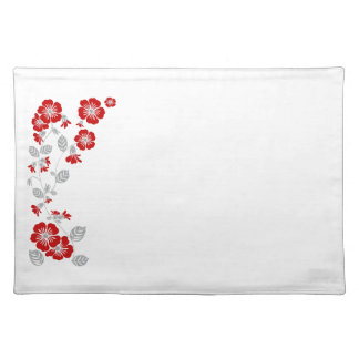 red blooms place mat
