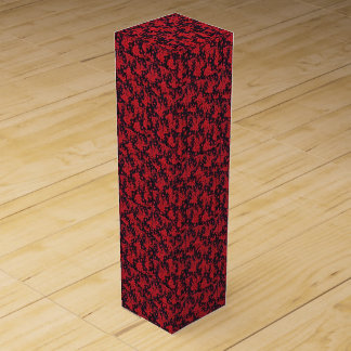 Red Blooms Wine Gift Box