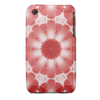 Red Blossom Kaleidoscoped iPhone 3 Cases