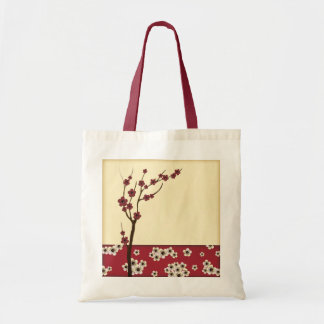 Red blossom tree tote bag